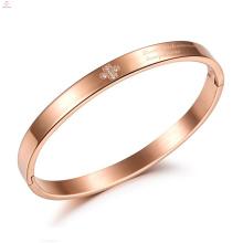 Croix en cristal personnalisé Bracelet en acier inoxydable Rose Love Bracelet en acier inoxydable