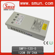 Fuente de alimentación conmutada del LED de la prueba de lluvia 120W 5V 24A