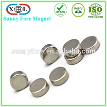 ni round shape n52 10mm by 5mm neodymium magnet