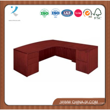 """Bow Front Executive L Desk with Right Return - 72""""W X 84""""D"""