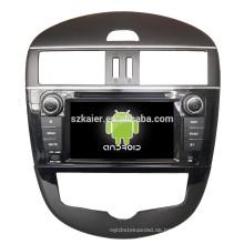 ANROID 4.4, Auto-DVD-GPS-Navigation für Nissan Tiida mit Bluetooth, SPIEGEL-CAST, AIRPLAY, DVR, Spiele, Dual Zone, SWC