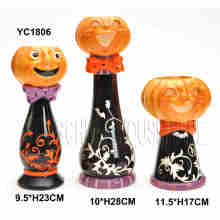 Hand Painted Pumpkin Candle Holder