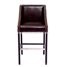 Modern leather cover wooden frame bar stool XYN1040