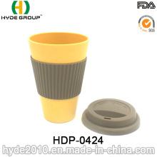 Caneca de viagem da caneca de café da fibra de várias cores de bambu (HDP-0424)