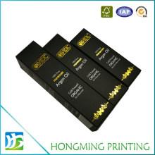 Folding Design Golden Embossed Paper Perfume Box