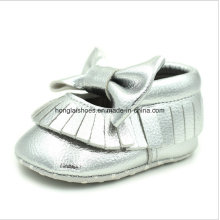 Couro sapatos de bebê Toddler Indoor