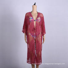 ropa de playa kaftanes cubren la falda del vestido cruzado de playa