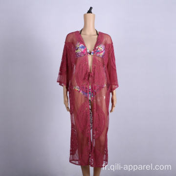 vêtements de plage caftans cover up jupe robe portefeuille de plage
