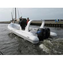 Жесткая надувная лодка Rib 730B с двойным двигателем - очень горячая