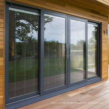 Double glazed sliding windows doors aluminium glass doors
