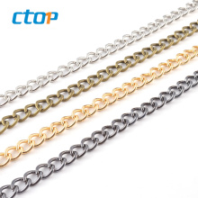Factory supply cheap gold silver metal purse shoulder belt crossbody chain strap selling chain for bag custom chain