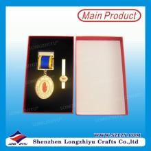 Medalla conmemorativa de metal personalizado con caja