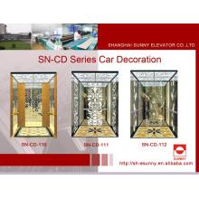 Aufzug Kabine St. St Rahmen mit weißen Acryl-Beleuchtung Panel (SN-CD-110)