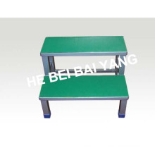 (D-33) Stainless Steel Double Layers Foot Stool