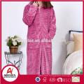 high quality flannel fleece zipper women bathrobe