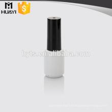 botella de esmalte de uñas de cristal redondo blanco para esmalte de uñas