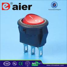 Interruptor de balancim de botão redondo 250v T85