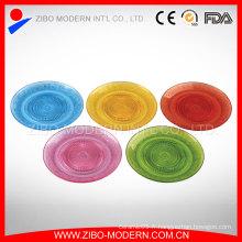Vente en gros de table de fruits de verre colorés bon marché