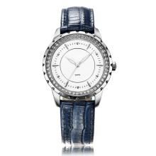 Синий Кожаный ремешок часы на сопротивление воды 3atm супер мода для женщин