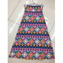 Ladies Fashion Printed Skirts Elastic High Waist Skirts