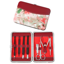 Blumen-Dame Handbag 8Pcs Portable Manicure Pedicure Set