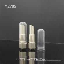 Único diseño doble pared de encargo de venta caliente vacía oro lápiz labial tubo
