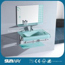 Bacia de banheiro de vidro quente de 19 mm com certificado