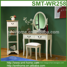 modern dressing table with mirror and stool luxury furniture American solid wood furniture