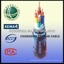 Estado de la red de alta calidad 300 / 500v PVC Flexible Cable de alimentación de 4 núcleos