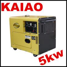 5kw portátil tipo silencioso gerador diesel