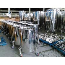 Barils de transfert de vin à roues en acier inoxydable