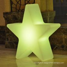 forme d'étoile métal arbre de Noël décoration de Noël lumières led d'éclairage