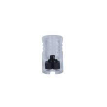 Transparent plastic microduct gas-tight block connector