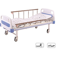 B-14 Movable Full-Fowler Hospital Furniture Patient Bed with ABS Headboards
