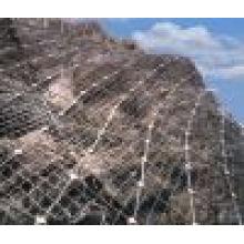 2015 Red de cable de acero de alta calidad de la red de protección de la pendiente