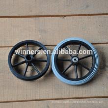 190mm petite roue en mousse de PU, roue de roulette