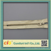 100% algodón cinta # 5 cremallera de latón