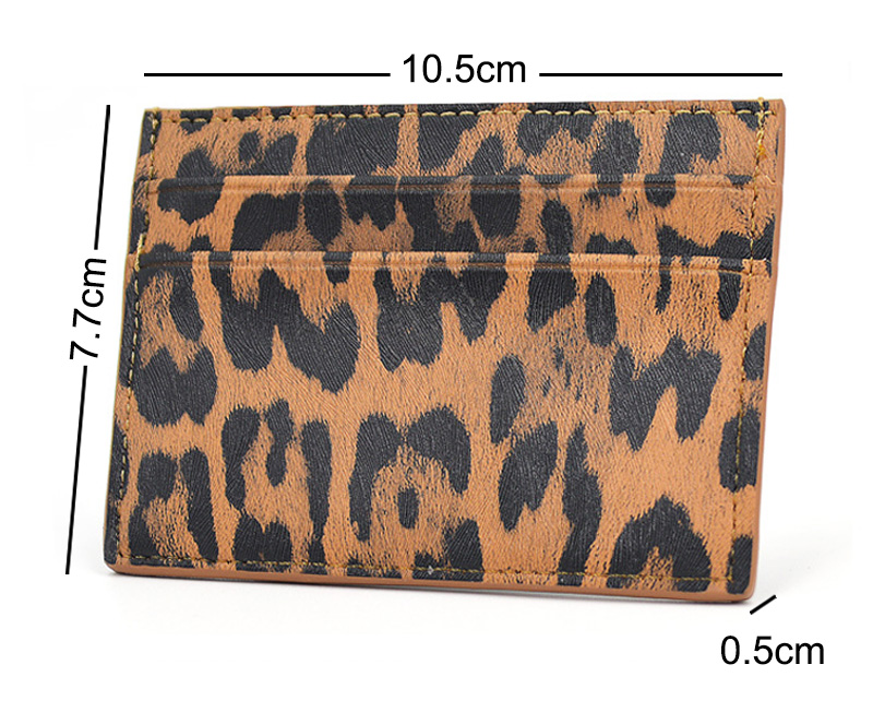 Retro Stylish Leopard Leather Card Holder