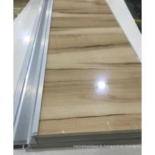 Portes d'armoires de cuisine en acrylique Woodgrain (personnalisées)