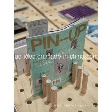 Spezielle Design Holz Display Rack / Ausstellung für Buch, Magazin