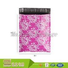 Impressão 10x13 Rosa-Colorida feita sob encomenda da cor-de-rosa / flor / encarregados de envio da correspondência polis florais do projeto da forma