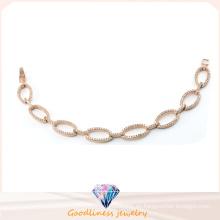Joyería de moda para las mujeres pulsera de plata rosa de oro plateado brazaletes joyas de plata esterlina para la señora Bt6601