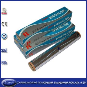 Temperamento suave y papel de aluminio grueso para uso alimentario