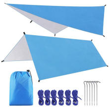 Hammock Rain Fly Tent Tarp Sun shelter,Waterproof Camping Tarp Shelter UV Protection Lightweight Ripstop Nylon Picnic Mat