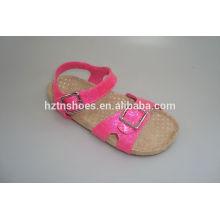 Дешевые акции обувь размером 28-37 малышей обувь мерцают розовые сандалии birkenstock тапочки пробка единственный пляж сандалии для девочек