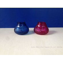 Colored Glass Candle Stick Candle Holder