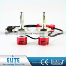 Instalação fácil do fã 4000lm 6000k do turbocompressor do jogo da conversão dos bulbos do farol do diodo emissor de luz do carro H13