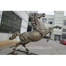 Moderne große berühmte Kunst Edelstahl Pferd Skulptur für Outdoor-Dekoration