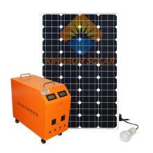 Sistema del panel solar de 100W para la azotea casera