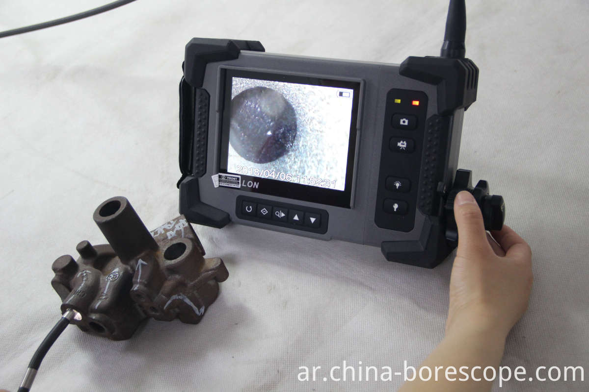 Crack inspection borescope